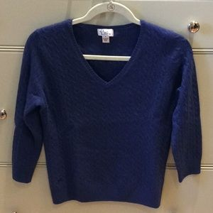 Lily Pulitzer Cashmere cable knit v neck